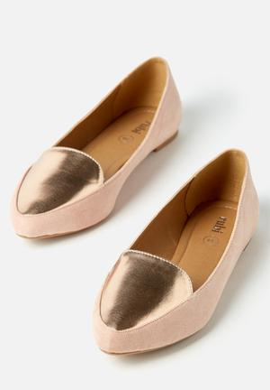Cotton On Peta Point Loafer Pumps & Flats Pink & Gold