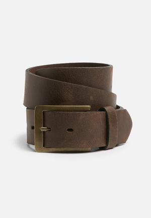 Basicthread Trevor Leather Belt Brown