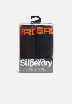 Superdry. 2 Pack Sport Boxer Underwear Black