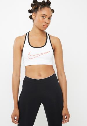 Nike Classic Logo Sports Bra White, Black & Pink