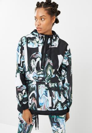 Nike Marble Print Jacket Black, Blue, Green & White
