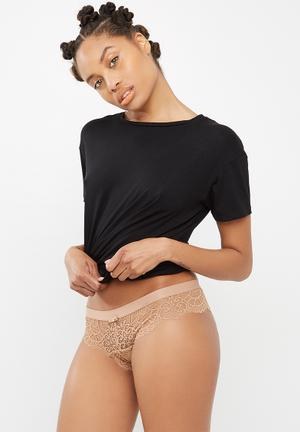 Cotton On Candice Brasiliano Brief Panties Beige