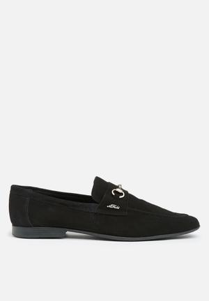 Anton Fabi Servero Horsebit Slip-ons And Loafers Black