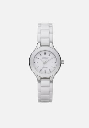 DKNY Chambers Watches White & Silver