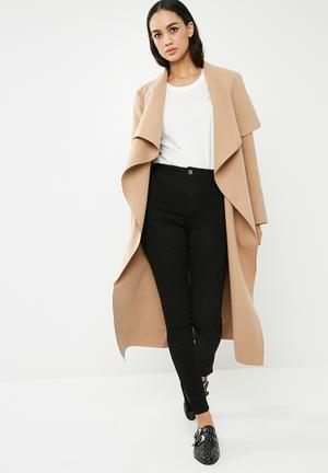 Oversized waterfalll duster coat
