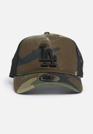 New Era Trucker LA Dodgers Headwear Khaki, Brown & Black