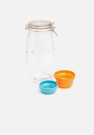 Kilner Measure & Store Jar Set Kitchen Accessories Glass & Silicone