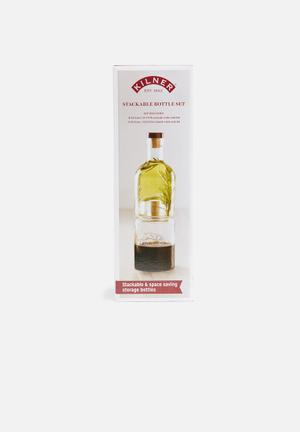 Kilner Stackable Bottle Set Drinkware & Mugs Glass & Cork Stoppers