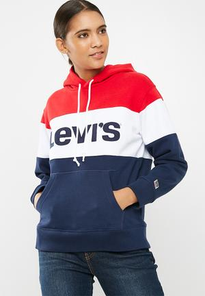 Levi's® Colourblock Sport Hoodie Hoodies & Sweats Red, White & Navy