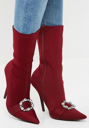 Dailyfriday Stiletto Boot - Burgundy Burgundy