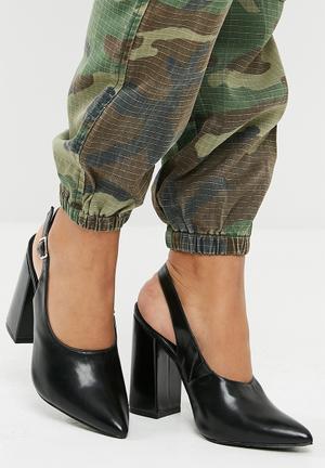 Dailyfriday Slingback Block Heel - Black Black