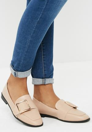 Dailyfriday Buckle Detail Slip On - Nude Pumps & Flats Nude