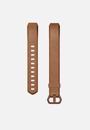 Fitbit Fitbit Alta HR Leather Accessory Band Genuine Leather & Aluminium Buckle