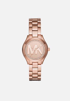 Michael Kors Mini Slim Runway Watches Rose Gold