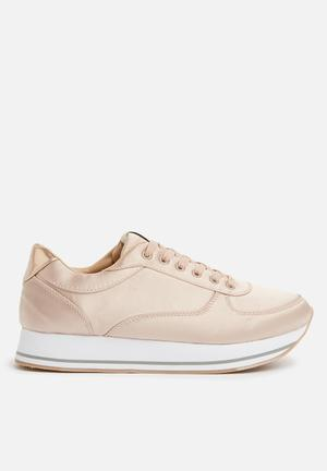 ONLY Smilla Satin Sneaker Pumps & Flats Rose Gold