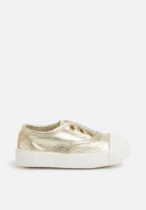 Cotton On Baby Sara Slip On Shoes Gold
