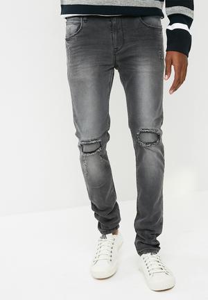 Basicthread Skinny Jeans Charcoal