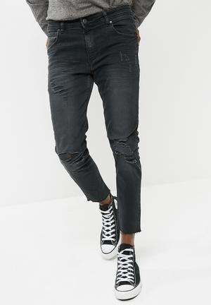 Basicthread Skinny Cropped Jeans Black