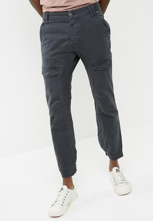 Sergeant Pepper Twill Jogger Pants & Chinos Washed Navy