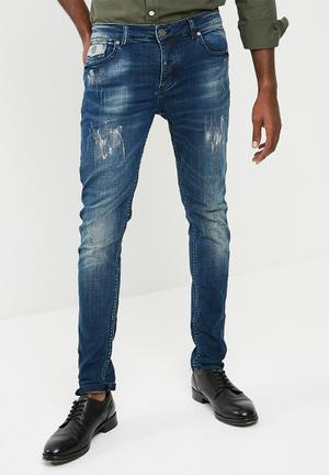 Sergeant Pepper Feather Slim Jeans Blue