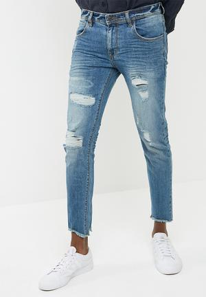 Basicthread Skinny Cropped Jeans Blue
