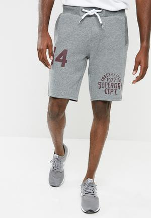 Superdry. Trackster Sweat Shorts Grey