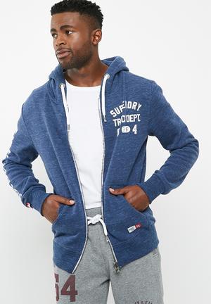 Superdry. Trackster Zip Hoodie Hoodies & Sweats Blue