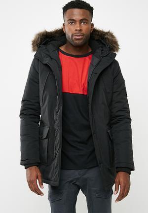 Superdry. Fur Trimmed Everest Jackets Black