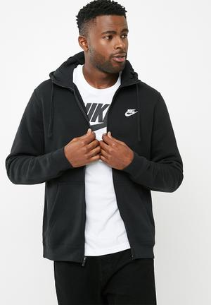 Nike Nsw FZ Hoodie Hoodies, Sweats & Jackets Black & White