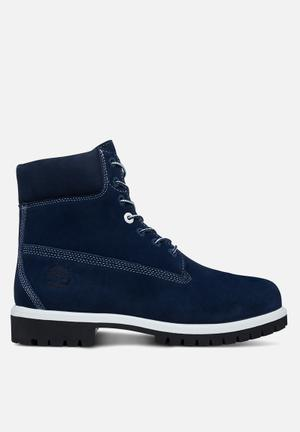 "Timberland Timberland Icon 6"" Waterproof Suede Boot Navy"