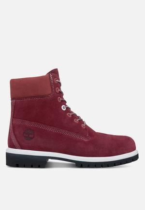 "Timberland Timberland Icon 6"" Waterproof Suede Boot Burgundy"