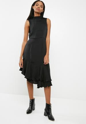 Vero Moda Kylie Frill Knee Dress Occasion Black