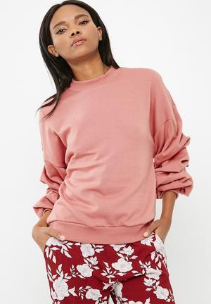 Vero Moda Land Puff Sleeve Top Knitwear Dusty Pink