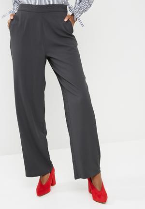 Vero Moda Bali Wide Pant Trousers Charcoal