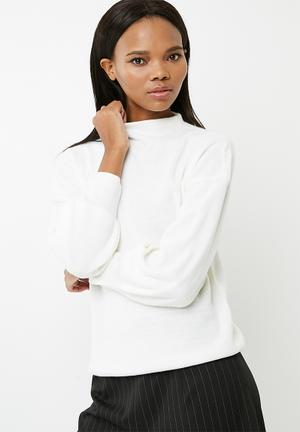 ONLY Bell Sleeve Sweater Knitwear White