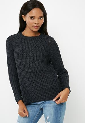 ONLY Titania Knit Sweater Knitwear Navy