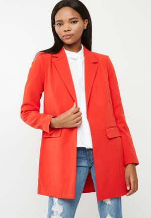 ONLY Kiara Long Blazer Jackets Red