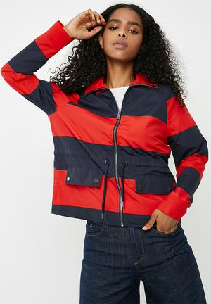 Noisy May Ariel Jacket Red & Navy
