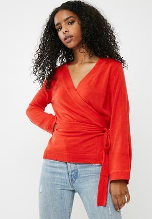 Jacqueline De Yong Bella Cardigan Knitwear Red