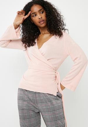 Jacqueline De Yong Bella Cardigan Knitwear Pink