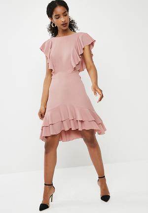 Dailyfriday Short Ruffle Dress Occasion Pink
