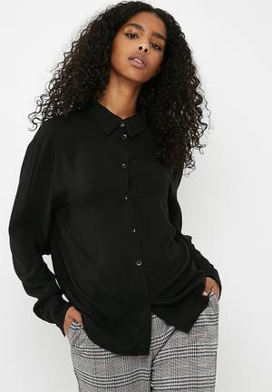 Dailyfriday Oversize Shirt - Black Black
