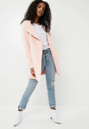 ONLY Fairy Hooded Coat Pink