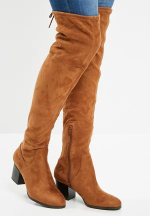 ALDO Abiwia Over The Knee Boot - Light Brown Light Brown