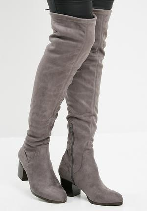 ALDO Abiwia Over The Knee Boot - Grey Grey