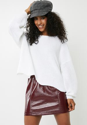 ONLY Tina Oversize Pullover - White Knitwear White