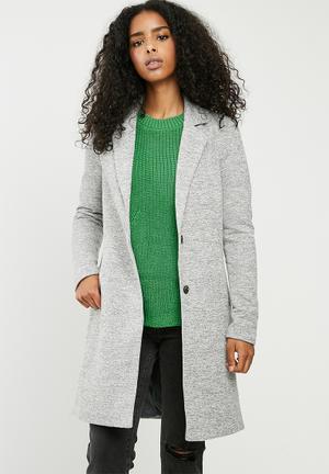 ONLY Carrie Coat - Light Grey Melange Light Grey Melange