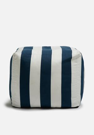 Sixth Floor Stripe Ottoman Chairs & Stools Polycotton Twil