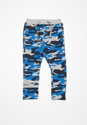 Name It Cam Sweat Pants - Blue Grey, Blue & Navy