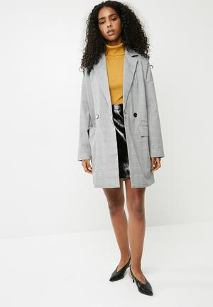 Vero Moda Ink Check Blazer - Black & White Jackets Black, White & Grey